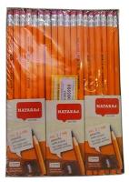 Карандаш чернографитный Nataraj Yellow HB шестигранный с резинкой 201153004