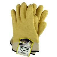 Перчатки нейлоновые с латексным покрытие крага жёлтый DOLONI 4500