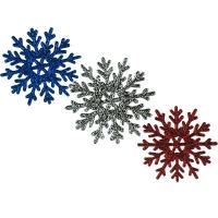 Новогодняя подвеска Снежинка №1 9см ассорти цена за упак 10шт