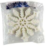 Новогодняя подвеска Снежинка №4 15см белая цена за упак 10шт