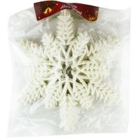 Новогодняя подвеска Снежинка №8 22см белая цена за упак 10шт