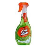 Средство для мытья стекл Мистер Мускул со спиртом, курок Лайм 500мл*12