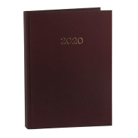 Ежедневник А5 датированный MONOCHROME 336л бордовый 2020г BM.2160-13