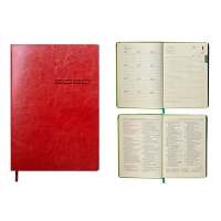 Ежедневник А5 датированный IDEAL 336л коричневый мягкая обложка  2020г BM.2175-19