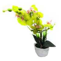"""Цветы искусственные """"Орхидея"""" в керамическом горшке  6-420 (173)"""