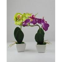 """Цветы искусственные """"Орхидея маленькая"""" в керамическом горшке 6-421 (173)"""