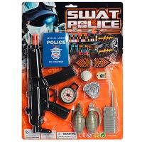 Полицейский набор автомат,компас,рация,гранаты 2шт,жетон на листе А507