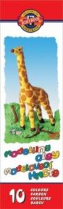 Пластилин 10цв 200гр Жираф KIN 131504