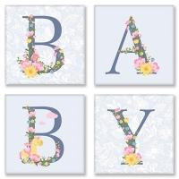 Набор для росписи по номерам 18*18см*4шт Baby Прованс СН107
