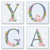 Набор для росписи по номерам 18*18см*4шт Yoga Прованс СН116