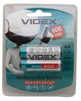 Батарейка пальчик HR6/AA 600 mAh blister Videx (цена за 1 шт)