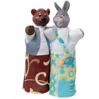 Набор кукол-перчаток Медведь и Заяц 2 персонажа В075/077