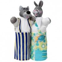 Набор кукол-перчаток Волк и Заяц 2 персонажа В076/077