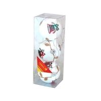 Набор елочных игрушек пластик 8см в упак 3шт 91708-PN (128)