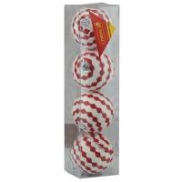 Набор елочных игрушек пластик 7см в упак 4шт 91710-PN (112)