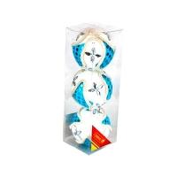 Набор елочных игрушек пластик 8см в упак 3шт 91695-PN (120)