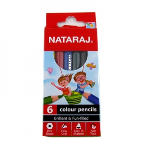 Карандаши цветные 6шт без точилки Nataraj 201254002