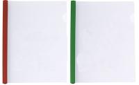 Папка А4 пластиковая с планкой-прижимом 65л микс180мкм Е31205