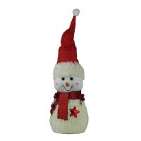 Новогодняя фигура Снеговик в красной шапке 30см микс 3, 91965-PN