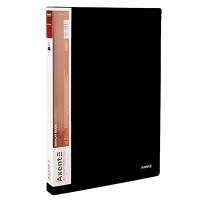 Папка А4 с 100 файлами черная 1200-01-А