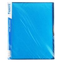 Папка А4 с 40 файлами голубая Axent 1140-07-А