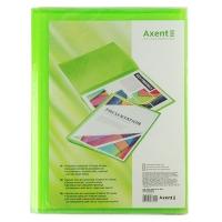 Папка А4 с 20 файлами прозрачная зеленая Axent 1020-26-А