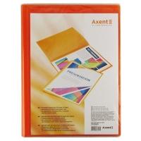 Папка А4 с 20 файлами прозрачная оранжевая Axent 1020-25-А