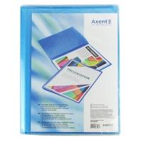 Папка А4 с 20 файлами прозрачная синяя Axent 1020-22-А
