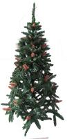 Искусственная елка зеленая 1,8м с шишками
