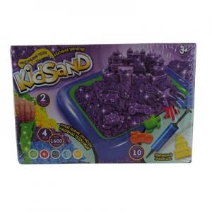 Кинетический песок KidSand 1600г+песочница KS-02-01