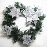 Рождественский венок новогодний с украшением