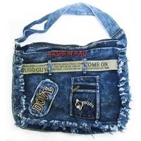 Сумка джинсовая большая с поясом FASHION BAC 8-8