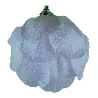 Набор елочных игрушек Цветок белый цена за упак (3 шт)