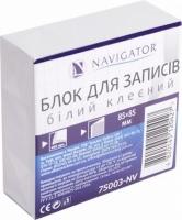 Блок бумаги для записей 85*85мм 400л белий клееный NV-75003
