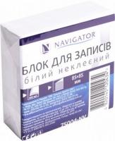 Блок бумаги для записей 85*85мм 400л белий не клееный NV-75004
