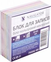 Блок бумаги для записей 85*85мм 400л полосатый не клееный NV-75006