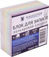Блок бумаги для записей 85*85мм 400л цветной клееный NV-75007