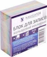 Блок бумаги для записей 85*85мм 400л цветной не клееный NV-75008
