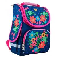 Рюкзак с ортопедической спинкой каркасный Smart 34*26*14 Flowers blue PG-11 554464