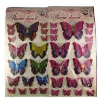 """Наклейки большие """"Бабочки"""" арт.XAD 10-367 (22081)"""