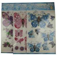 """Наклейки""""Бабочки-цветы""""А-3 арт.MXE 10-379 (23520)"""