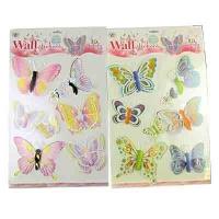 """Наклейки""""Бабочки""""А-3 арт.WX 10-382 (23520)"""