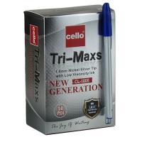 Ручка шариковая синяя Tri-Max Cellо CL-1806 9-382 (21578)