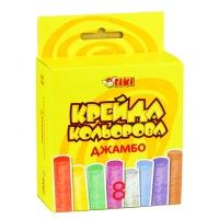 Мелки цветные TIKI Jumbo 8 цветов, в карт. уп 51519-ТК