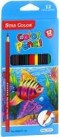 Карандаши цветные 12шт UN005