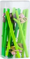 Ручка гелевая синяя обезьяна на ветке NoName 197