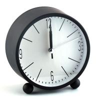 Часы-будильник пласт. круглый  53052