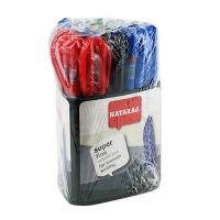 Ручка шариковая Nataraj Super Fine 0,7мм ассорти 50шт в треугольной подставке 206499017