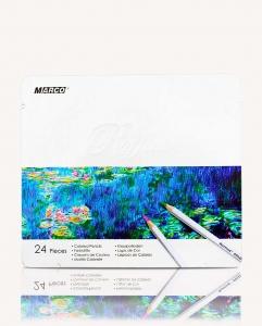 Карандаши цветные 24шт в металлической упаковке MARCO 7100-24TN