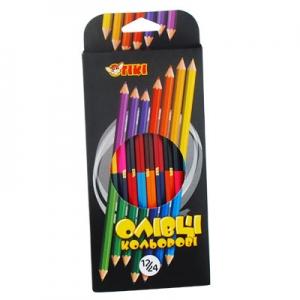 Карандаши цветные 12шт 24цв двухсторонниеТІКІ 51621-ТК